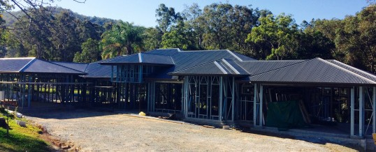 Finishing operations after Steel House Frame Installation